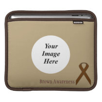 Brown Standard Ribbon by Kenneth Yoncich iPad Sleeve