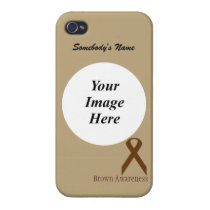 Brown Standard Ribbon by Kenneth Yoncich iPhone 4 Cover