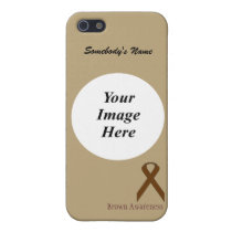 Brown Standard Ribbon by Kenneth Yoncich iPhone SE/5/5s Case