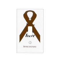 Brown Standard Ribbon by Kenneth Yoncich Light Switch Cover