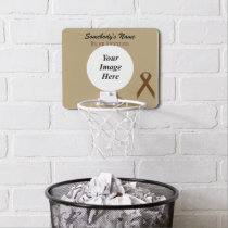 Brown Standard Ribbon by Kenneth Yoncich Mini Basketball Hoop