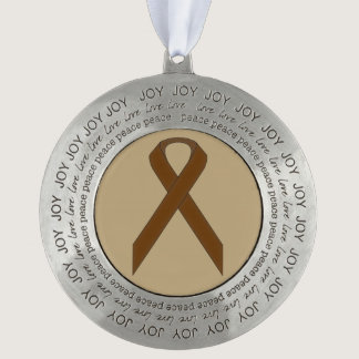 Brown Standard Ribbon by Kenneth Yoncich Pewter Ornament