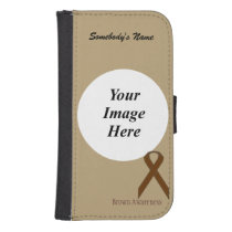 Brown Standard Ribbon by Kenneth Yoncich Phone Wallet