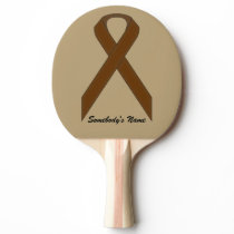 Brown Standard Ribbon by Kenneth Yoncich Ping-Pong Paddle