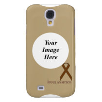 Brown Standard Ribbon by Kenneth Yoncich Samsung S4 Case