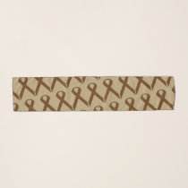 Brown Standard Ribbon by Kenneth Yoncich Scarf