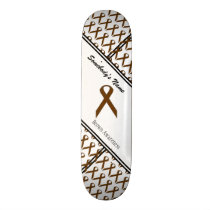 Brown Standard Ribbon by Kenneth Yoncich Skateboard Deck