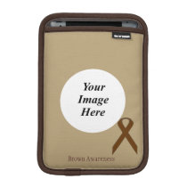 Brown Standard Ribbon by Kenneth Yoncich Sleeve For iPad Mini