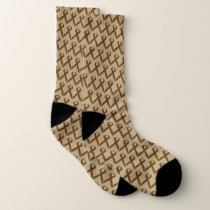 Brown Standard Ribbon by Kenneth Yoncich Socks