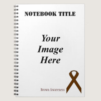 Brown Standard Ribbon by Kenneth Yoncich Spiral Notebook
