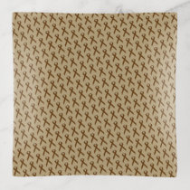 Brown Standard Ribbon by Kenneth Yoncich Trinket Trays