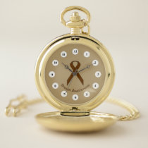 Brown Standard Ribbon (Cf) by K Yoncich Pocket Watch