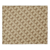 Brown Standard Ribbon Duvet Cover