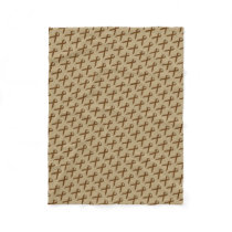 Brown Standard Ribbon Fleece Blanket
