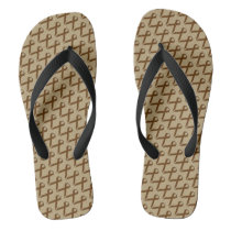 Brown Standard Ribbon Flip Flops