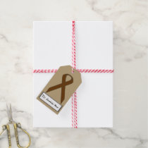 Brown Standard Ribbon Gift Tags