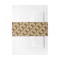 Brown Standard Ribbon Invitation Belly Band