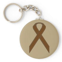 Brown Standard Ribbon Keychain