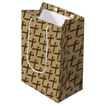 Brown Standard Ribbon Medium Gift Bag