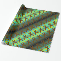Brown Standard Ribbon Pattern by Kenneth Yoncich Wrapping Paper