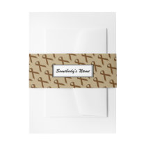 Brown Standard Ribbon (Pers) Invitation Belly Band