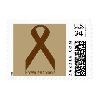 Brown Standard Ribbon Postage