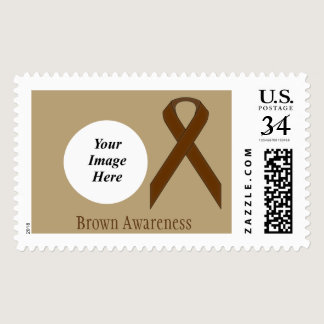 Brown Standard Ribbon Postage