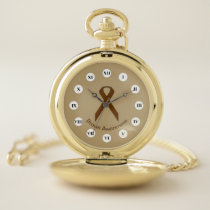Brown Standard Ribbon (Rf) by K Yoncich Pocket Watch