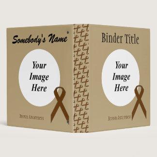 Brown Standard Ribbon Template 3 Ring Binder