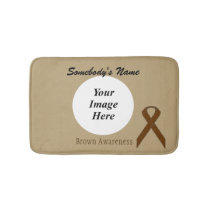 Brown Standard Ribbon Template Bathroom Mat