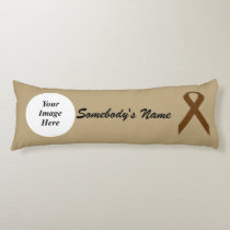 Brown Standard Ribbon Template Body Pillow