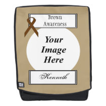 Brown Standard Ribbon Template by Kenneth Yoncich Backpack