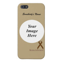 Brown Standard Ribbon Template by Kenneth Yoncich Cover For iPhone SE/5/5s