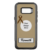 Brown Standard Ribbon Template by Kenneth Yoncich OtterBox Commuter Samsung Galaxy S8  Case
