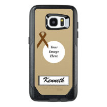 Brown Standard Ribbon Template by Kenneth Yoncich OtterBox Samsung Galaxy S7 Edge Case