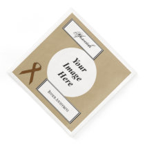 Brown Standard Ribbon Template by Kenneth Yoncich Paper Dinner Napkin