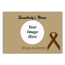 Brown Standard Ribbon Template by Kenneth Yoncich Table Number