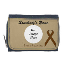 Brown Standard Ribbon Template by Kenneth Yoncich Wallet