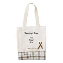 Brown Standard Ribbon Template by Kenneth Yoncich Zazzle HEART Tote Bag