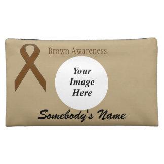 Brown Standard Ribbon Template Cosmetic Bag