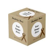 Brown Standard Ribbon Template Cube