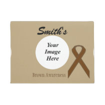 Brown Standard Ribbon Template Doormat