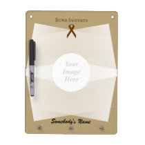 Brown Standard Ribbon Template Dry Erase Board