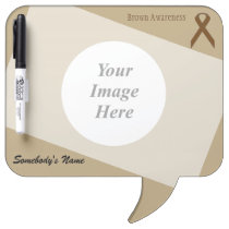 Brown Standard Ribbon Template Dry-Erase Board