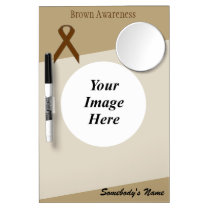 Brown Standard Ribbon Template Dry Erase Board With Mirror