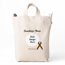 Brown Standard Ribbon Template Duck Bag