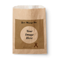 Brown Standard Ribbon Template Favor Bag