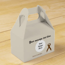 Brown Standard Ribbon Template Favor Box