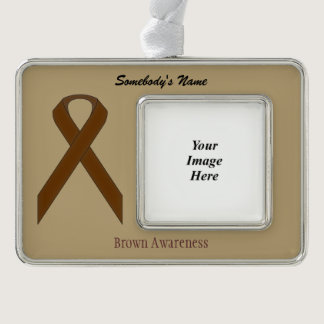 Brown Standard Ribbon Template (H-O) Ornament