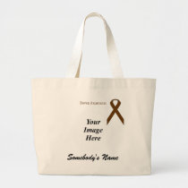 Brown Standard Ribbon Template Large Tote Bag